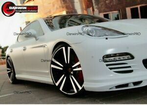 2010 2013 Panamera 970 Gmt Style Carbon Fiber Front Lip Spoiler Body Kit