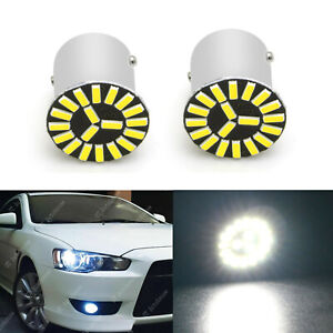 2x 1156 White 60w Xp E Projector Led Daytime Running Light Drl Bulbs