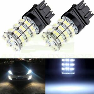 2x 3157 3156 6000k Xenon White Backup Reverse 60 Smd Led Lights Bulbs