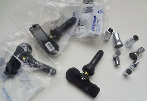 Gm Tpms Sensors W Chrome Cap Sleeved Stem Pkg Gm