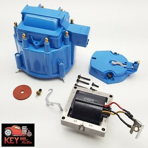 Gm Hei Blue Distributor Cap Rotor Set Sbc Bbc Replacement Includes 65k Coil