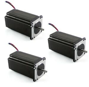 3 Pcs New Nema 23 Dual Shaft Stepper Motor 570 Oz in 1 4 Shaft