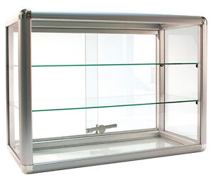 Countertop Glass Showcase Retail Store Merchandise Display 24 wx12 dx18 h New