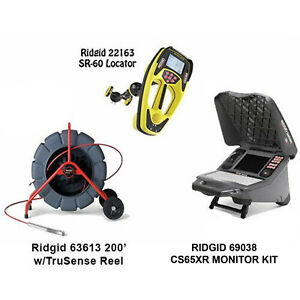 Ridgid 200 Color Reel 14053 Seektech Sr 60 Locator 22163 Cs65x Wifi 55978