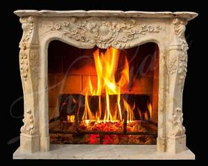 Elegant Louis Xvi Inspired Classic French Style Marble Fireplace Mantel 3843