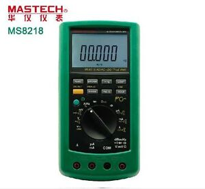 Ms8218 Pc Usb Digital Multimeter Meter Dmm True Rms Dcv