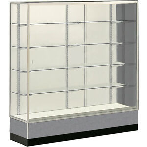 Wall Trophy Display Case 60 h Upright Assembled Showcase Store Fixture 70 w New