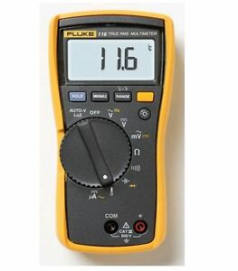 Fluke 116 Digital Hvac Multimeter True Rms Backlit Microamp Temperature Meter