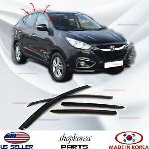 New Smoked Door Visor Window Sun Rain Vent Deflector Hyundai Tucson 2011 2015