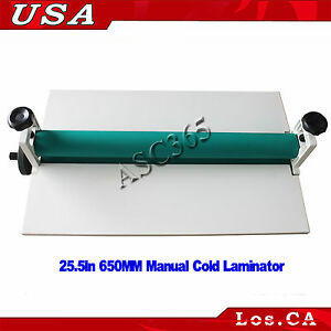 Vinyl Photo Film Laminating 25 5in 650mm Manual Cold Roll Laminator