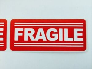100 1x3 Fragile Labels Stickers For Shipping Supplies Office Products 100 1x3