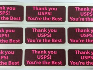 100 1 X 2 5 Thank You Usps You re The Best Shipping Labels Stickers Pink Neon