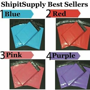 1 1000 10x13 Blue Pink Purple Or Red Color Poly Mailers Fast Shipping