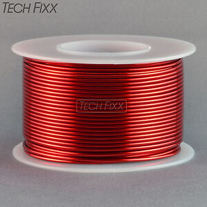 Magnet Wire 16 Gauge Awg Enameled Copper 63 Feet Coil Winding And Crafts Red