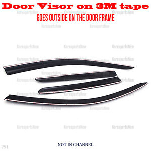 3m Tape Smoke Door Window Vent Visor Deflector Hyundai Tucson 2011 2015