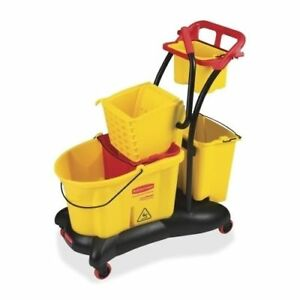 Rubbermaid 7780 Wavebrake 35 quart Mop Bucket W trolley Side Press 1 Each