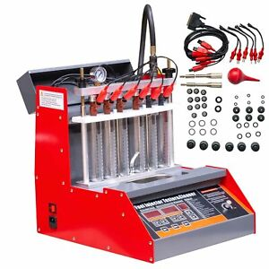 Car Motorcycle Injector Ultrasonic Cleaner Injection Tester 1 Year Warranty
