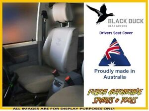 Black Duck Canvas Drivers Seat Cover For Ford Falcon Ba Bf 10 02 06 08 Xl