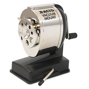 X acto Ks Manual Vacuum Mount Classroom Pencil Sharpener Black chrome 1072