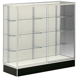 Wall Trophy Display Showcase 48 Mirror Back Retail Store Fixture Assembled New