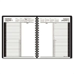 Recycled 24 hour Daily Appointment Book Black 6 7 8 X 8 3 4 2014 2 Pack