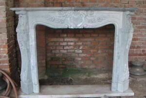 Elegant French Design Marble Fireplace Mantel Custom Available