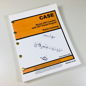 Case 450 Crawler Dozer W 207 Engine Parts Manual Catalog Assembly Bulldozer