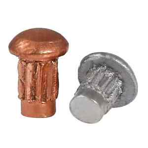 M2 M2 5 M3 Round Head Solid Copper Rivet Aluminum Knurled Rivet Nut Insert