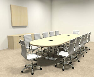 Modern Racetrack Steel Leg 12 Feet Conference Table of con cm11