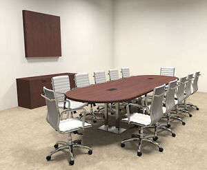 Modern Racetrack Steel Leg 12 Feet Conference Table of con cm13