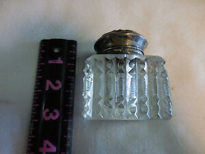 Sterling Silver Hinged Lid Cracked Glued Jar