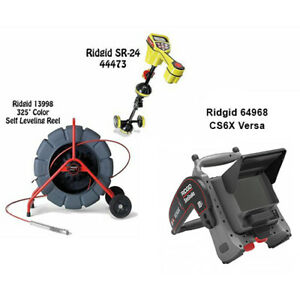 Ridgid 325 Color Sl Reel 13998 Seektech Sr 24 Locator 44473 Minipak 32748