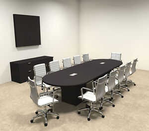 Modern Racetrack Cube Leg 12 Feet Conference Table of con cq10