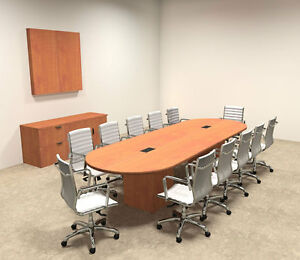Modern Racetrack Cube Leg 12 Feet Conference Table of con cq12
