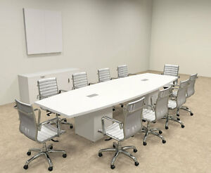 Modern Boat Shaped Cube Leg 12 Feet Conference Table of con cq22