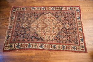 5x7 Antique Bijar Area Rug