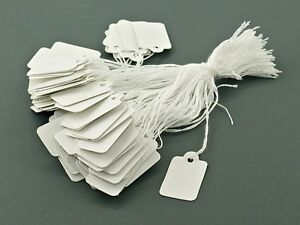 100 Pcs Blank Labels Jewelry Strung Pricing Price Tags