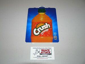 Dixie Narco 501e 276hv Soda Vending Machine orange Crush Bottle Vend Label