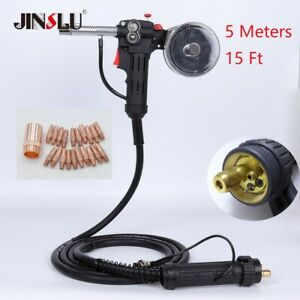 15ft Euro Adpator Mig Welder Spool Gun With 24v Motor Wire Feed Aluminum Welder