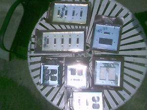 Lot Single Double 4 5 Toggle Gfci Duplex Rocker Mirror Switch outlet Wall Plate
