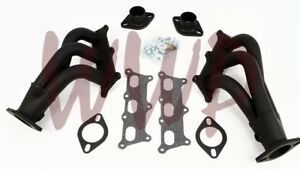 Performance Black Coated Exhaust Header Manifold Kit 10 11 Chevy Camaro 3 6l V6