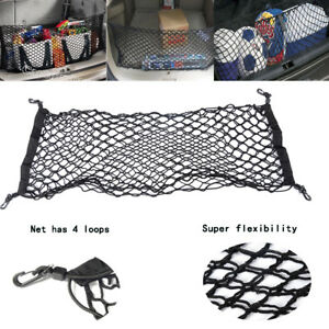 Auto Rear Trunk Cargo Net Mesh Storage Organizer Pocket Fit For Subaru Forester
