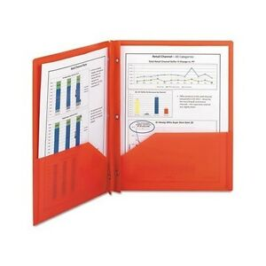 Poly Two pocket Folder With Fasteners 8 1 2 X 11 Red 25 box