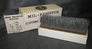 Mil Spec Box Of 1 2w Watt Carbon Comp 5 Resistors 7 5m 7m5 Ohm 625 Pieces