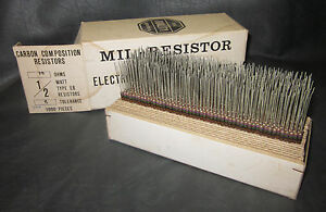 Mil Spec Box Of 1 2w Watt Carbon Comp 5 Resistors 75 Ohm 700 Pieces