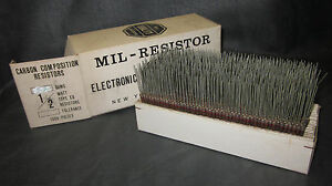 Mil Spec Box Of 1 2w Watt Carbon Comp 5 Resistors 8 2 Ohm 1000 Pieces