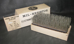 Mil Spec Box Of 1 2w Watt Carbon Comp 5 Resistors 6 8 Ohm 1000 Pieces