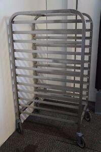 Stainless Steel Bakery Full Size Pan Rack On Casters Dozens Of Carts Available