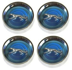 Mustang Wheel Cap Magnum 500 Mercury Cougar Silver Cat Set Of 4 1967 1977 Blue