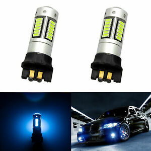 Pw24w Error Free 8000k Ice Blue Led Bulb Drl Turn Signal Light For Audi A3 A4 A5